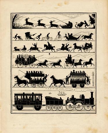 Victorian Transportation Silhouettes