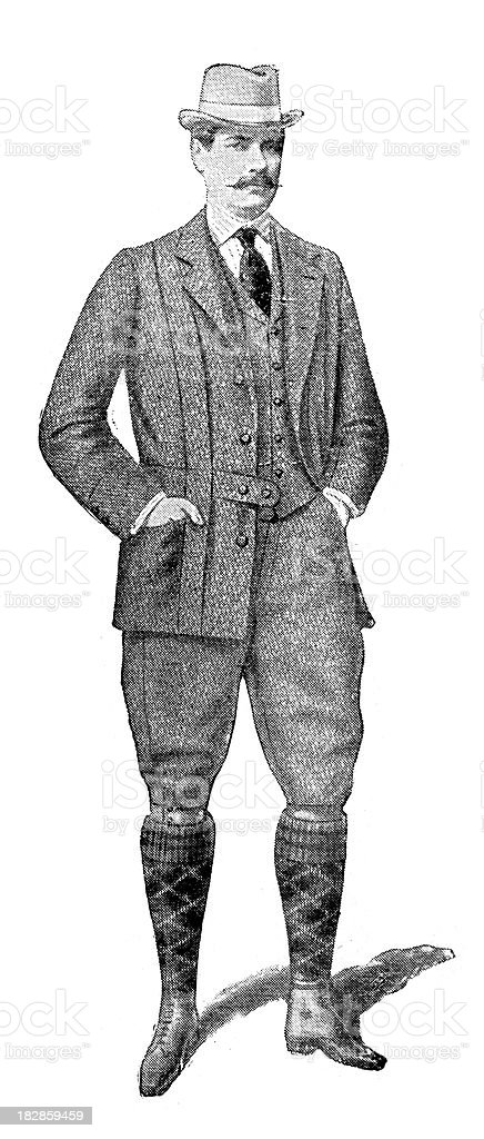 Victorian Tweed Suit royalty-free victorian tweed suit stock vector art & more images of 19th century