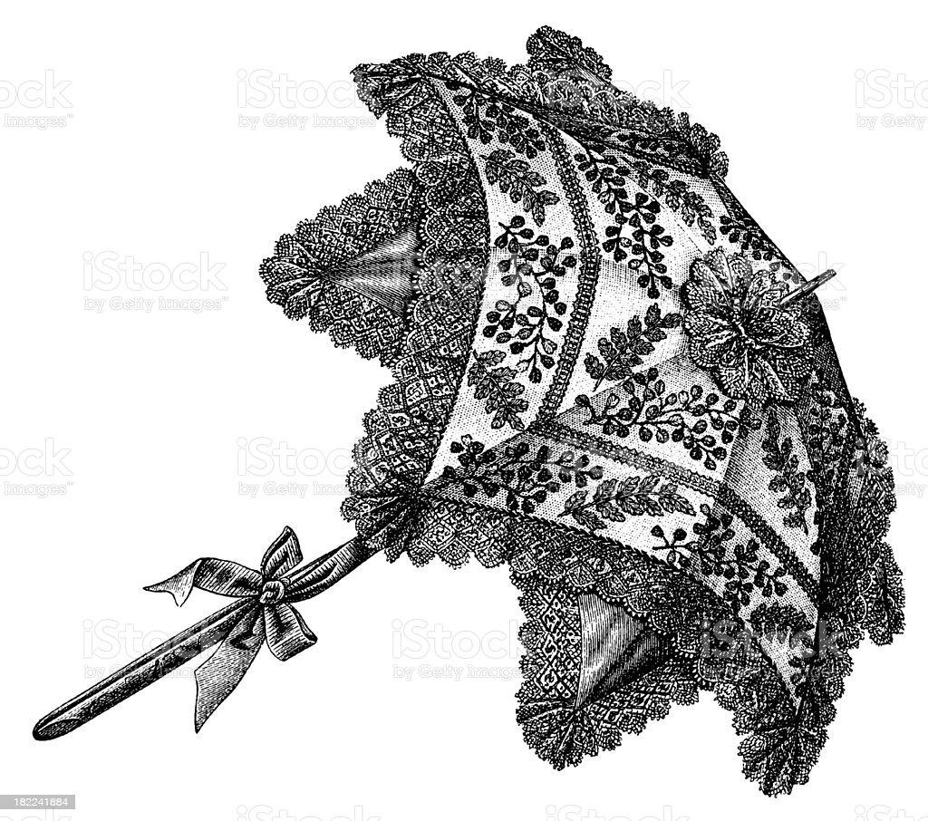 Victorian umbrella | Antique Design Illustrations royalty-free stock vector art