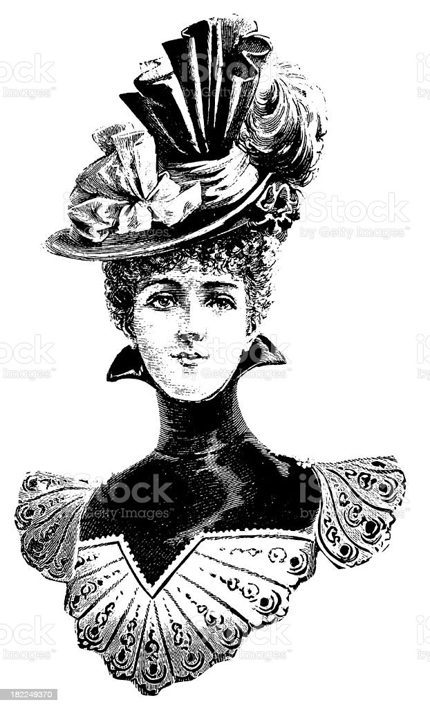 Victorian woman | Antique Design Illustrations vector art illustration