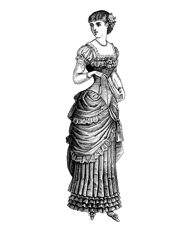 Victorian woman antique french illustration