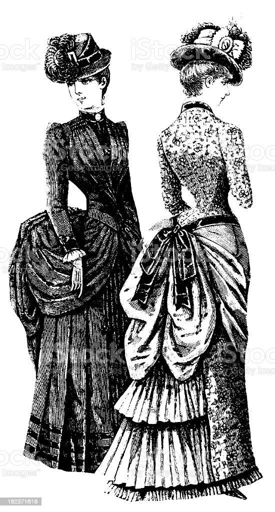 Victorian women | Antique Design Illustrations royalty-free stock vector art