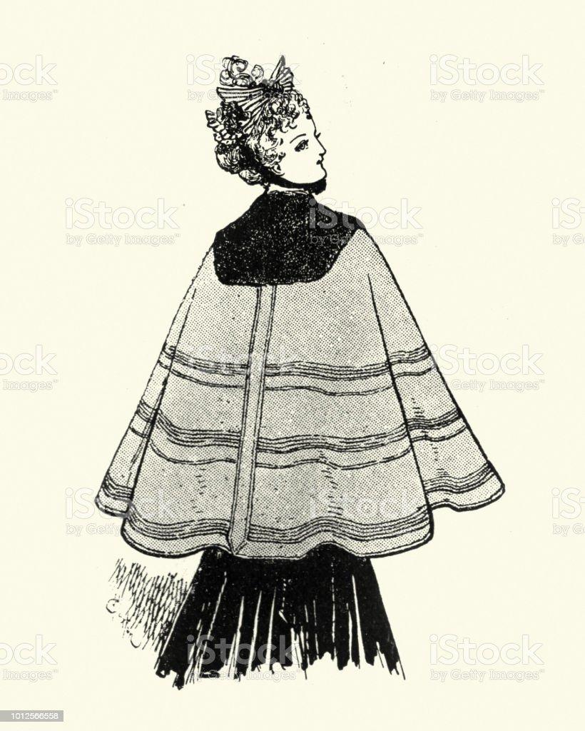 Kinderkleding En Meer.Victoriaanse Vrouwen Kinderkleding Jaren 1890 Cape Stockvectorkunst