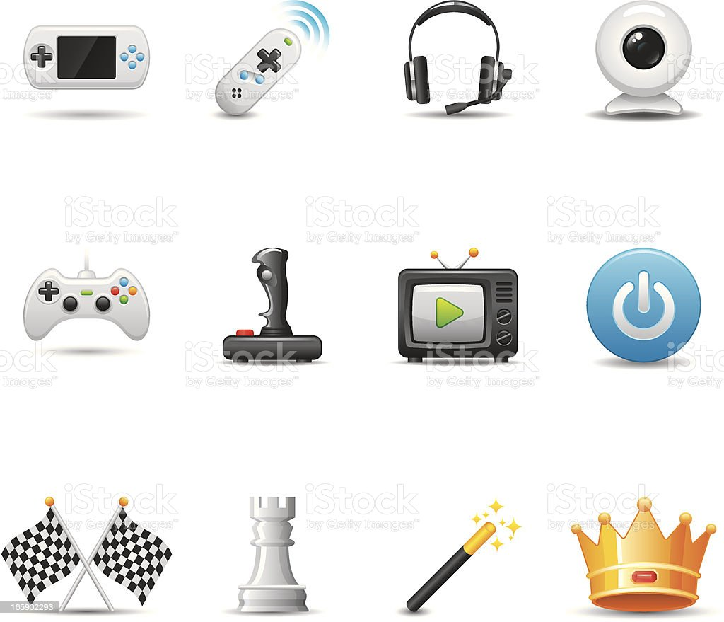 Video Game Icon Set | Elegant Series royalty-free stock vector art