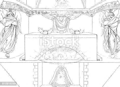 istock View of a bell foundry, cross section 810919268
