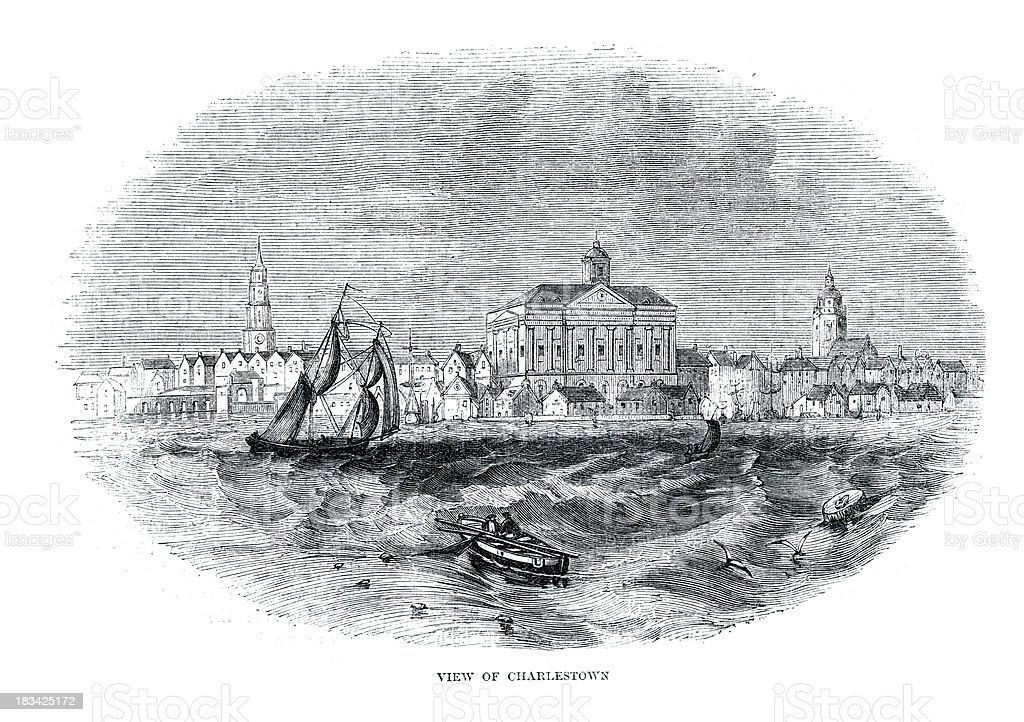 View of Charlestown royalty-free view of charlestown stock vector art & more images of 18th century