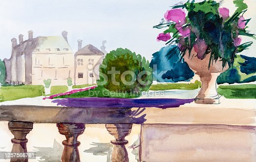 istock view of Jardin du Luxembourg in Paris on sunny day 1257566761