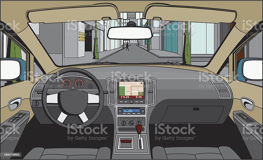 Auf der Fahrer – Vektorgrafik
