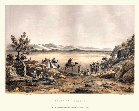 Vintage illustration of View of the Plain of Jericho, 19th Century