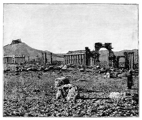 View of the rubble city Palmyra