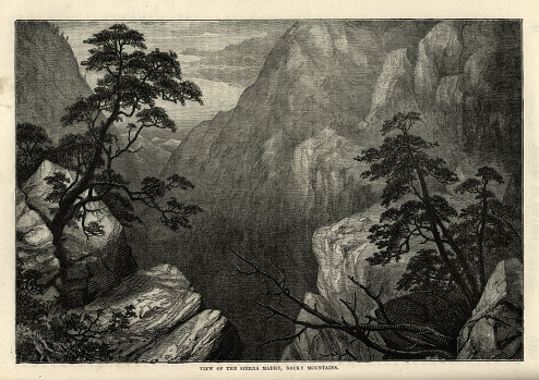 View of the Sierra Madre, Rocky Mountains, 19th Century