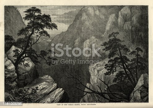 istock View of the Sierra Madre, Rocky Mountains, 19th Century 1181003295