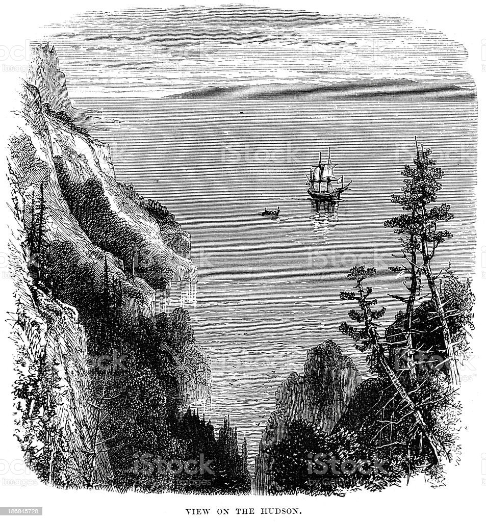 View on the Hudson royalty-free view on the hudson stock vector art & more images of 19th century