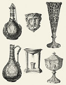 istock Viictorian chalices and decanters 468168338