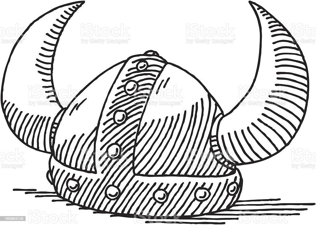 viking helmet drawing stock vector art amp more images of