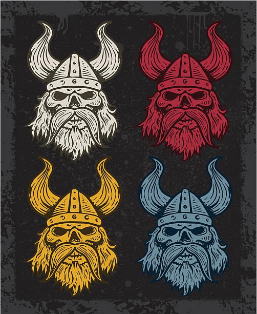 Viking Quartet vector art illustration