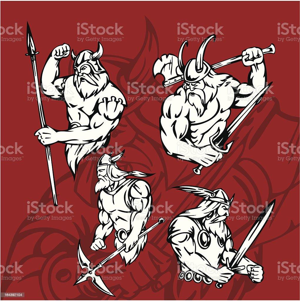 Vikings. royalty-free stock vector art