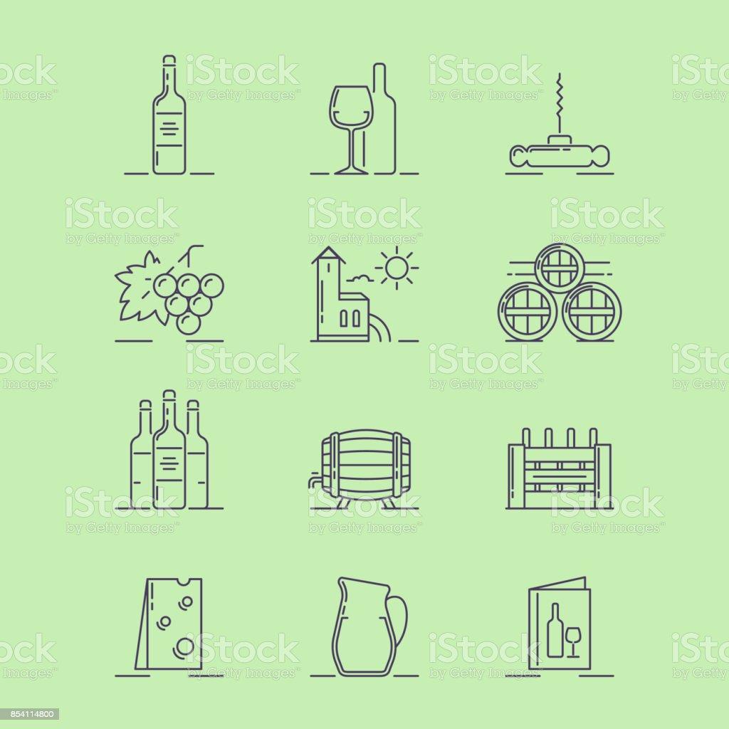 Vine_icons vector art illustration