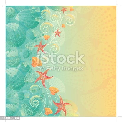 istock Vintage abstract beach background 165812239