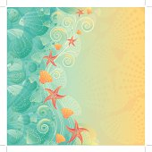 """""""Vintage abstract ocean background, layered and groupped, 300dpi 25x25cm jpg included. EPS 10, transparency used. more related:"""""""