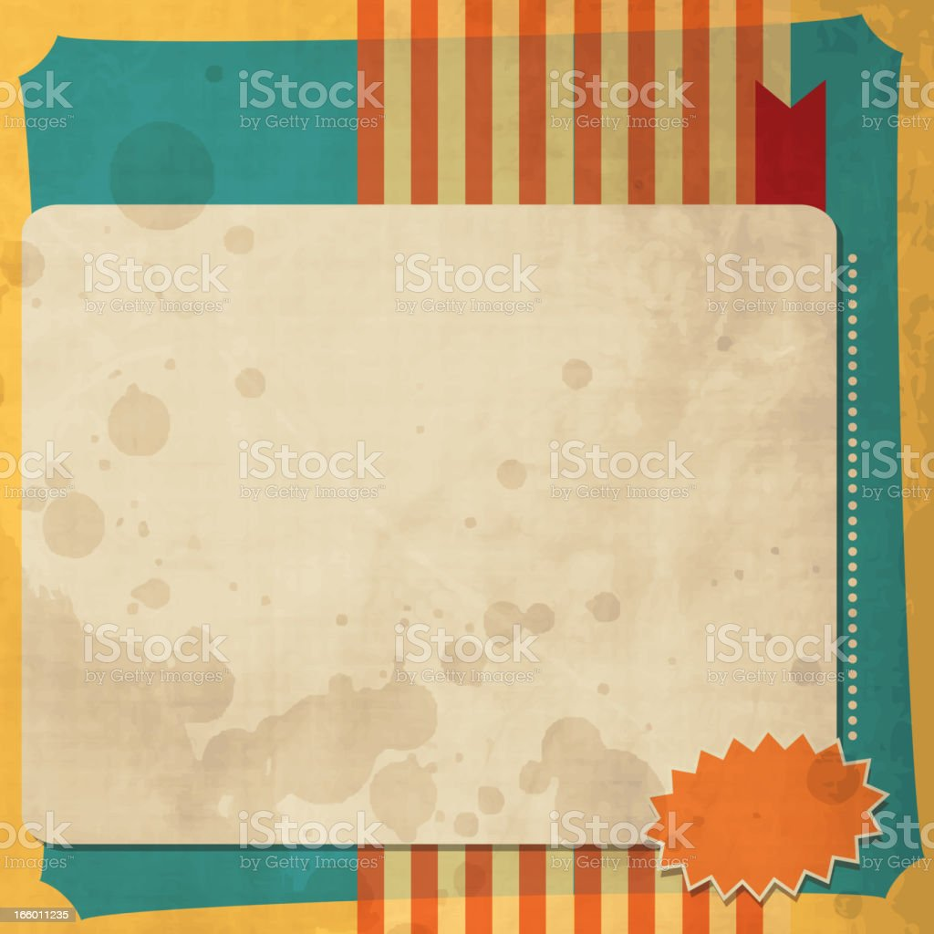 Vintage Background with Grunge Texture royalty-free stock vector art