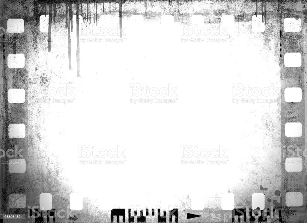 Vintage Black And White Film Strip Frame Or Background Stock Vector ...