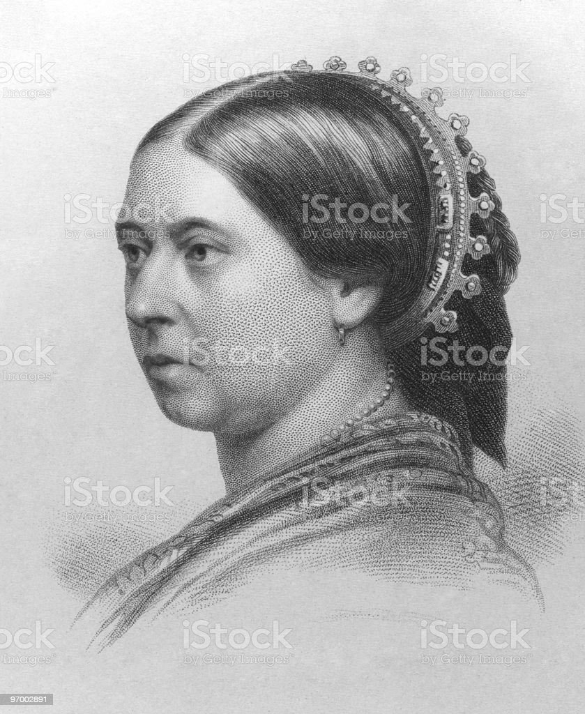 Vintage black and white photograph of Queen Victoria royalty-free vintage black and white photograph of queen victoria stock vector art & more images of adult