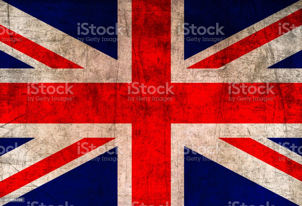 Vintage British Flag vector art illustration
