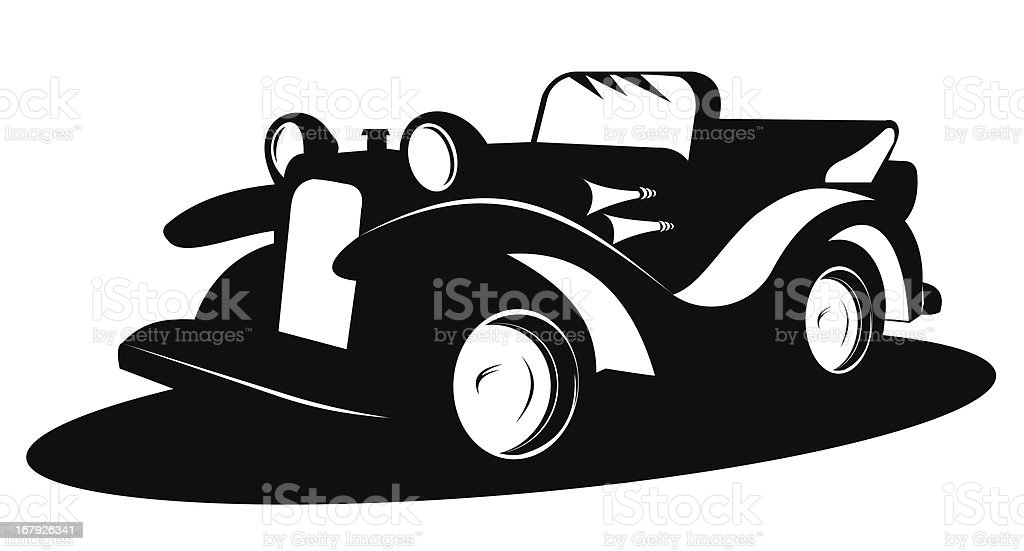 Vintage car over white background royalty-free stock vector art