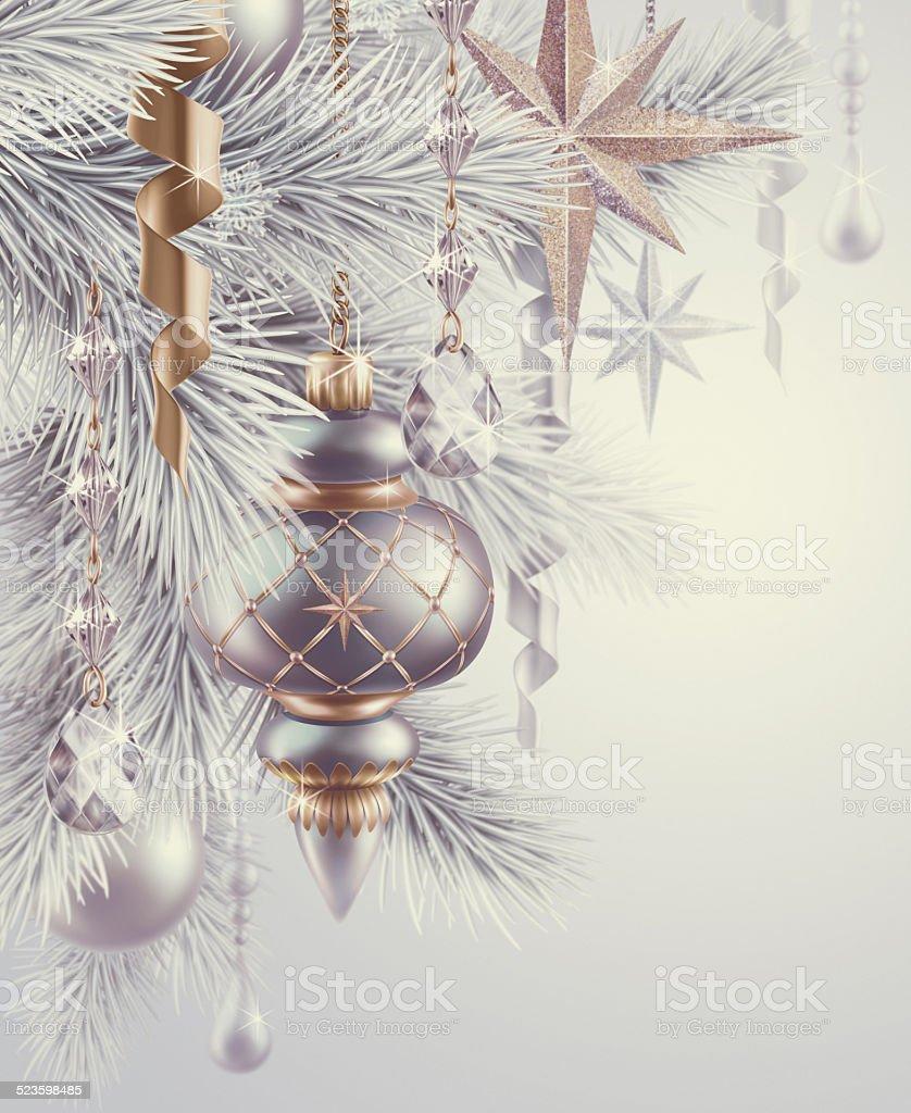 Sfondi Natalizi Eleganti.Vintage Ornamenti E Decorazioni Albero Di Natale Sfondo