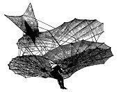 Vintage Clip Art and Illustrations | Antique Plane (Paraglide)