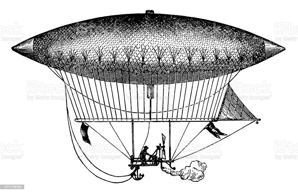Vintage Clip Art and Illustrations | Antique Zeppelin vector art illustration