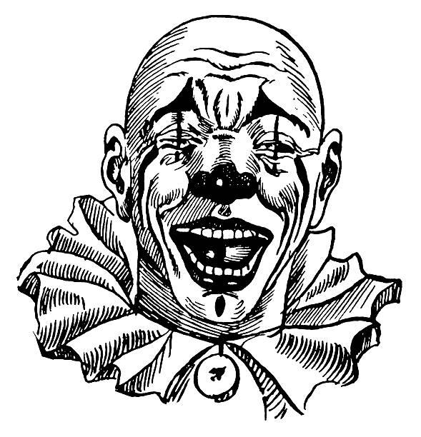 522 Black And White Clown Illustrations & Clip Art - iStock