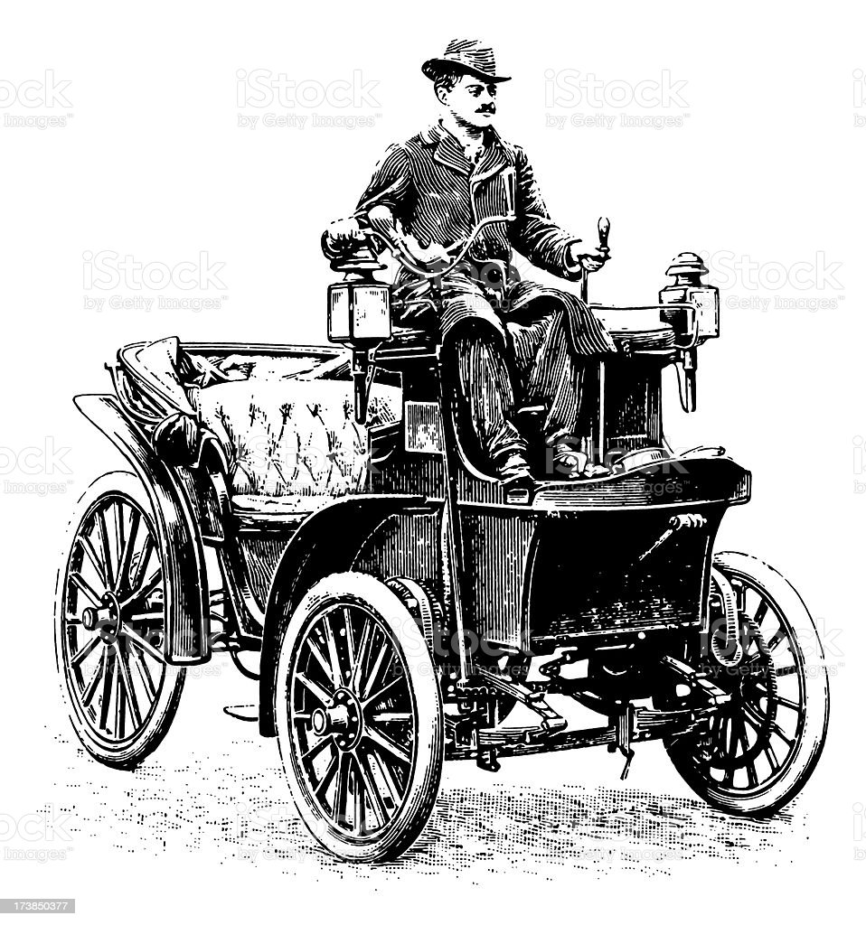 Vintage Clip Art And Illustrations Early Automobile Stock Vector Art ...