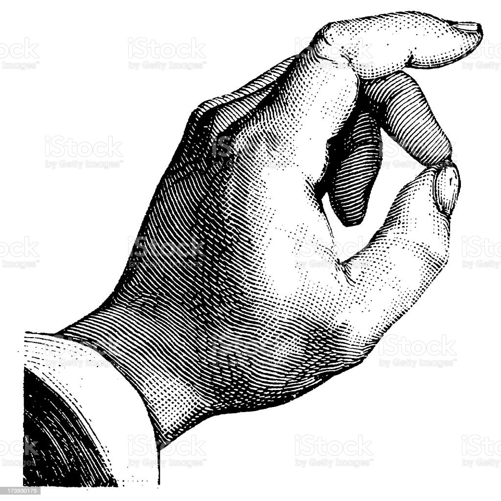 Vintage Clip Art and Illustrations | Human Hand vector art illustration