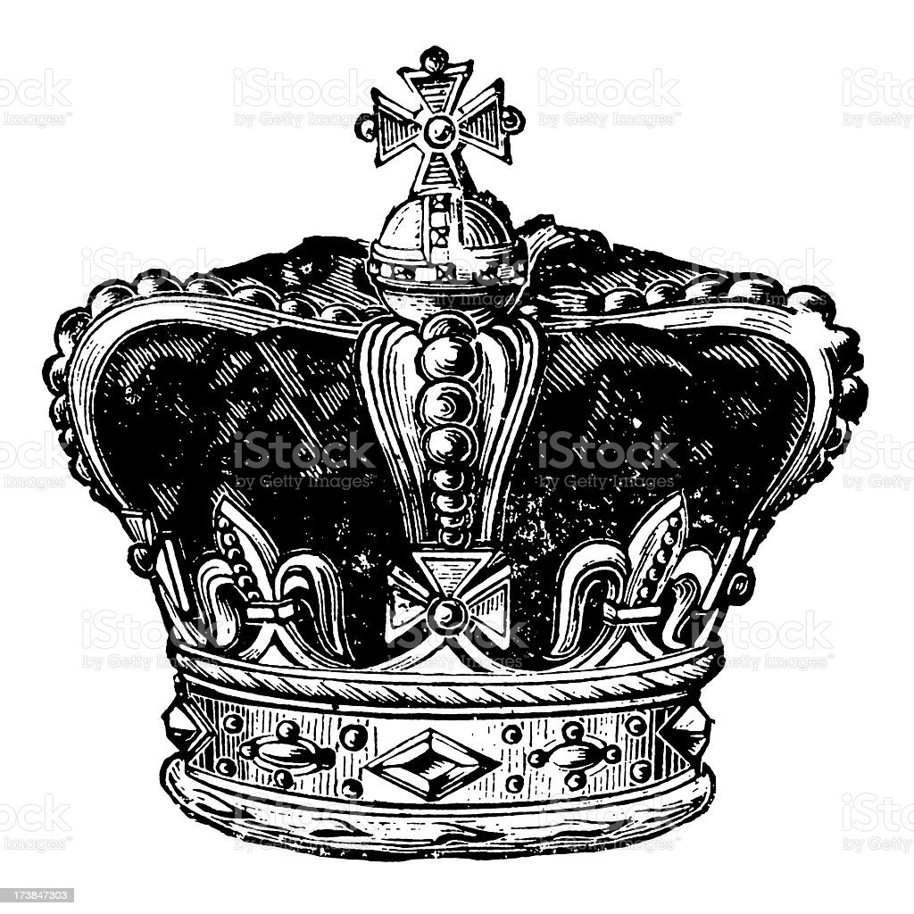 Vintage Clip Art and Illustrations | Royal Crown royalty-free stock vector art