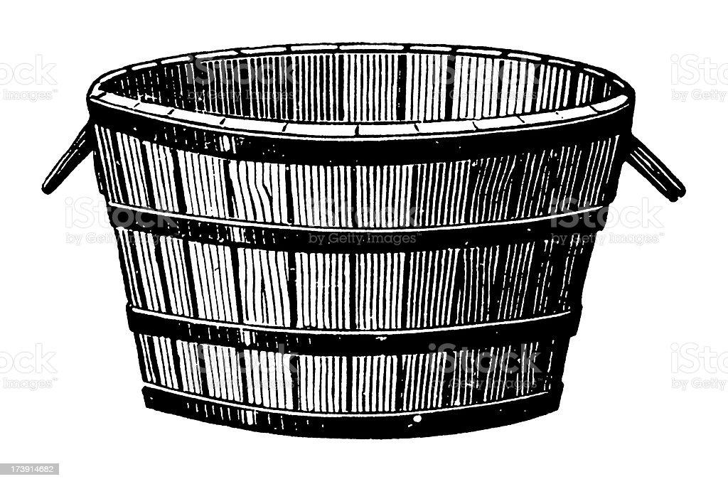 Vintage Clip Art And Illustrations Wine Barrel Stock ...