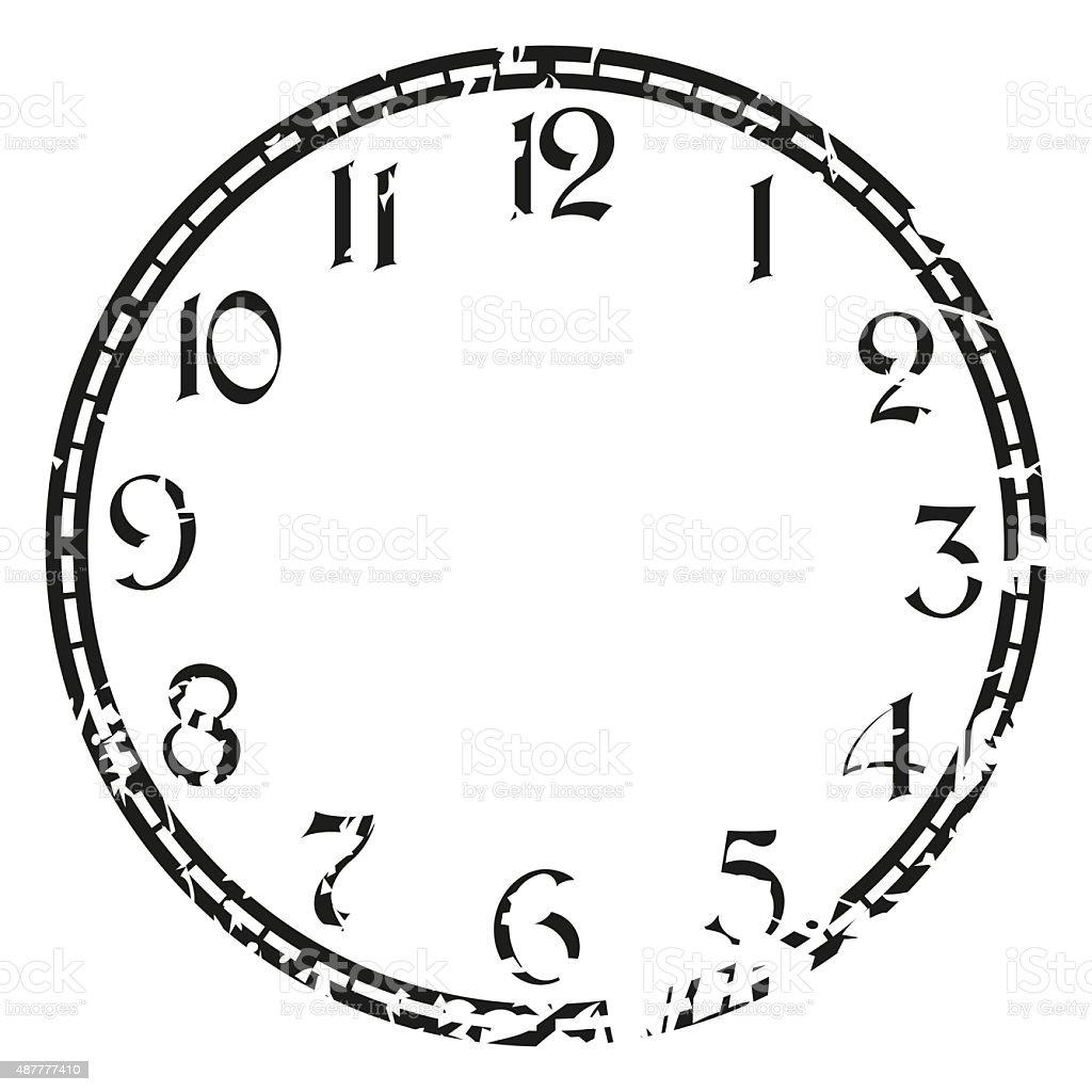 vintage clock vector art illustration