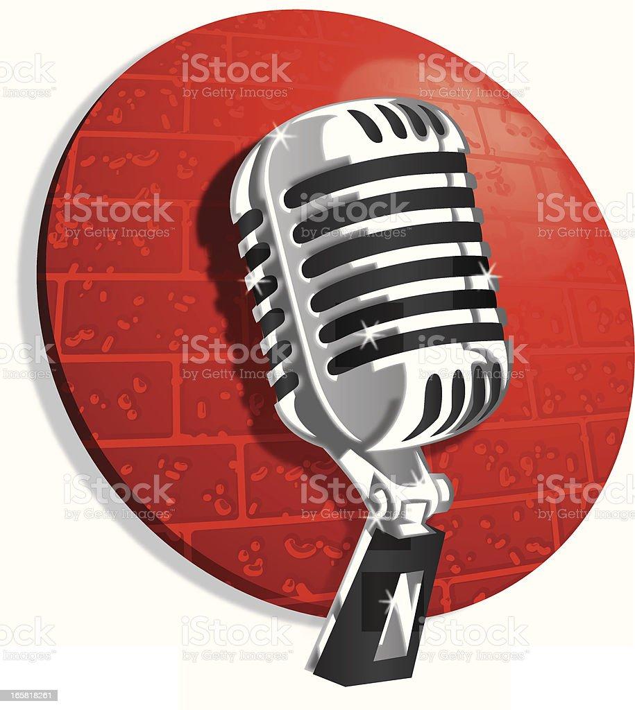 vintage club microphone royalty-free stock vector art