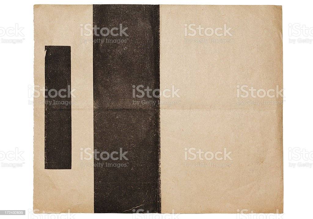 Vintage Damaged Old Card Paper Texture With Black Border royalty-free vintage damaged old card paper texture with black border stock vector art & more images of ancient