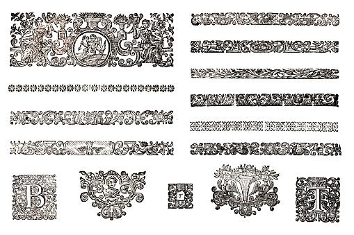Vintage Decorative Woodcuts