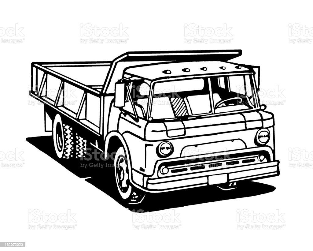 Vintage Dumptruck royalty-free stock vector art