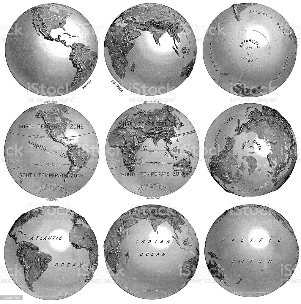 Vintage Engraved World Views royalty-free vintage engraved world views stock vector art & more images of antique