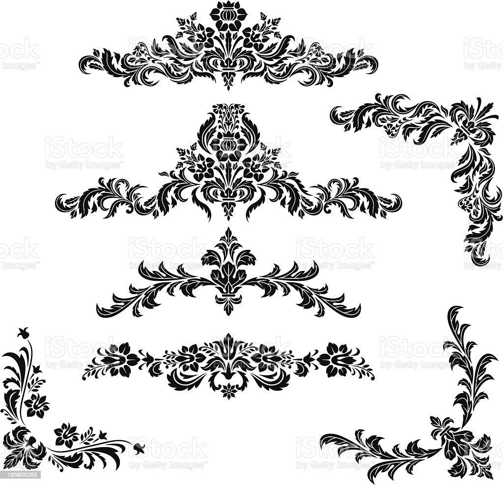 Elementi di design floreale vintage immagini vettoriali for Elementi di design