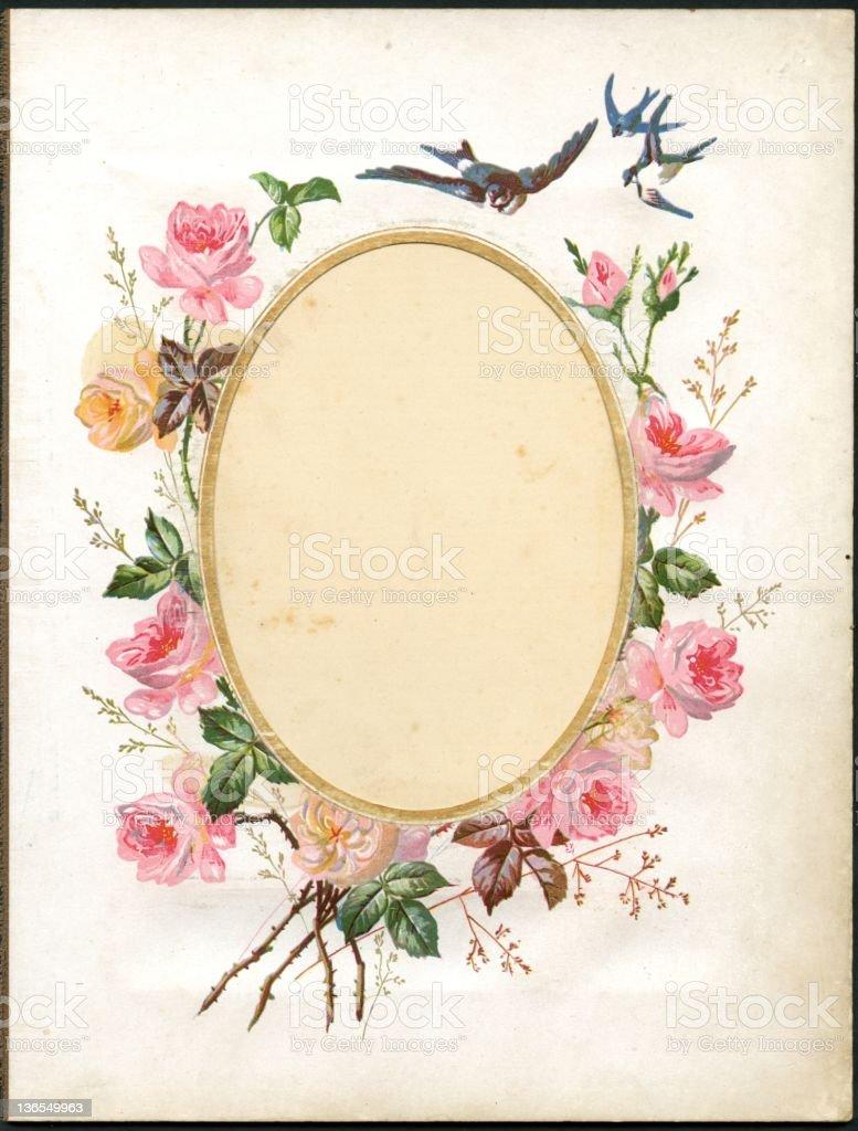 Vintage flower frame (XXXL) vector art illustration