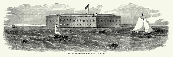Vintage Fort Sumter, Charleston, SC