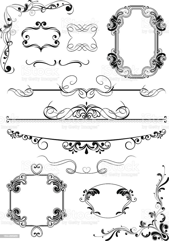 Vintage frame abstract elements royalty-free stock vector art