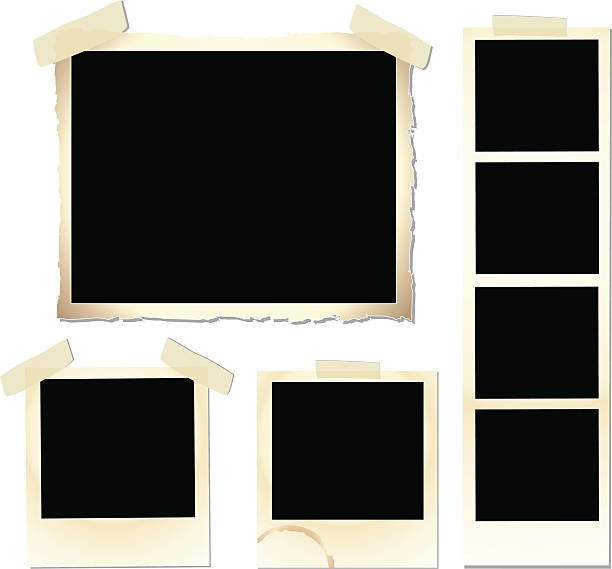 Vintage Frame Set Collection of empty vintage frames to fill with your favorite image or text. photo album stock illustrations