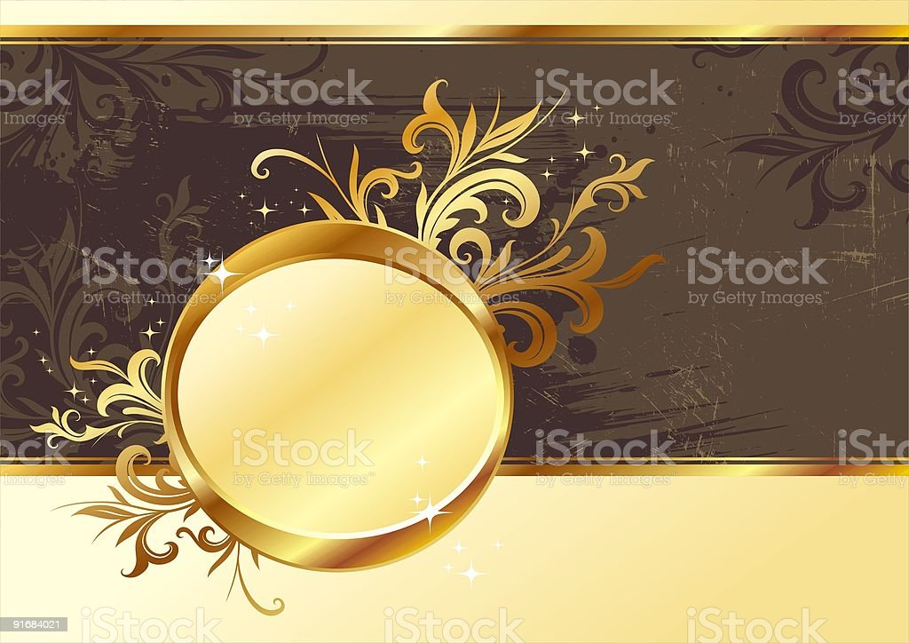Vintage gold frame for text royalty-free stock vector art