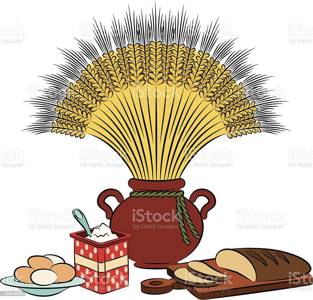 Vintage healthy meal ingredients. Vector royalty-free vintage healthy meal ingredients vector stock vector art & more images of animal egg